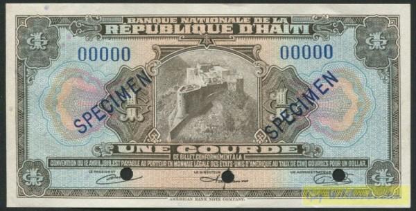 ABNC, Specimen - (Sie sehen ein Musterbild, nicht die angebotene Banknote)