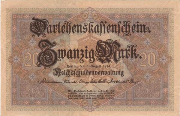 5.8.14, KN 7st - (Sie sehen ein Musterbild, nicht die angebotene Banknote)