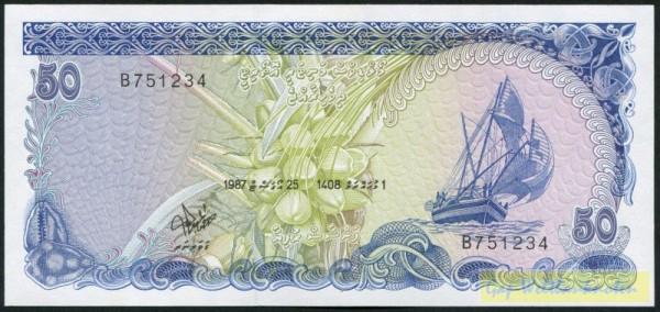 25.8.87 - (Sie sehen ein Musterbild, nicht die angebotene Banknote)