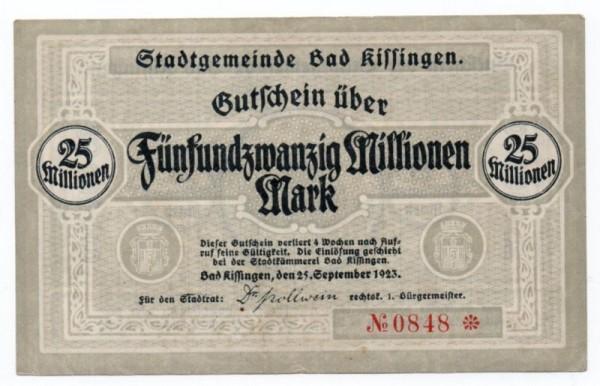 25.9.23, im Udr Rathaus - (Sie sehen ein Musterbild, nicht die angebotene Banknote)