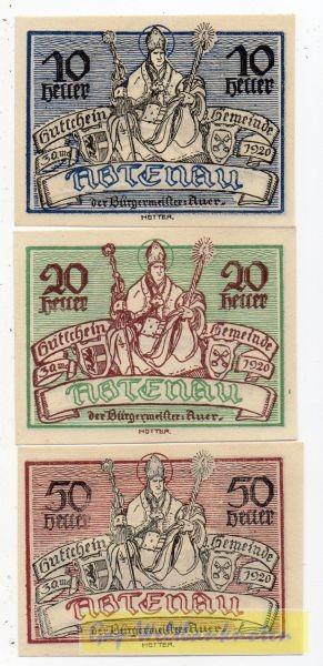 3W., 30. 5. 1920 - 31. 12. 1920, Papier weiss, Durchs. hell - (Sie sehen ein Musterbild, nicht die angebotene Banknote)