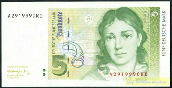 1.8.91 - (Sie sehen ein Musterbild, nicht die angebotene Banknote)