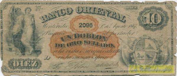 1.8.1867 - (Sie sehen ein Musterbild, nicht die angebotene Banknote)