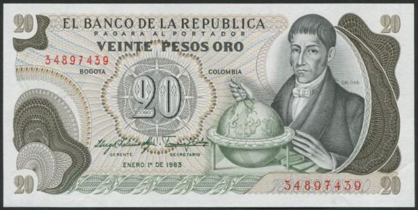 1.1.83 - (Sie sehen ein Musterbild, nicht die angebotene Banknote)