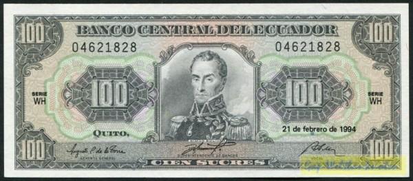 21.2.94, KN schwarz, WH - (Sie sehen ein Musterbild, nicht die angebotene Banknote)