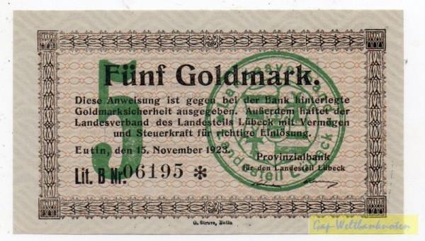15.11.23, KN 6*s - (Sie sehen ein Musterbild, nicht die angebotene Banknote)