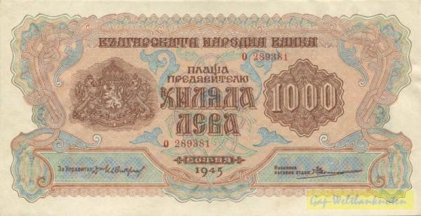 1945 - (Sie sehen ein Musterbild, nicht die angebotene Banknote)