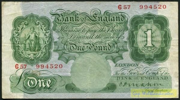 Us. Mahon - (Sie sehen ein Musterbild, nicht die angebotene Banknote)