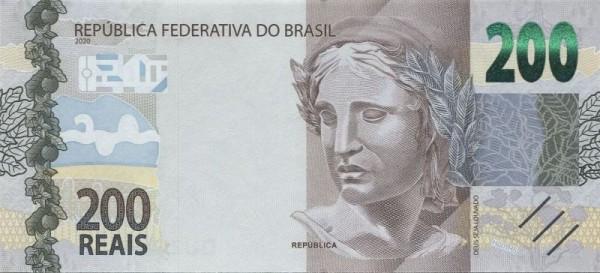 2020, Us. Guedes/Neto - (Sie sehen ein Musterbild, nicht die angebotene Banknote)