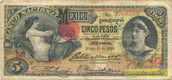 1.3.1910 - (Sie sehen ein Musterbild, nicht die angebotene Banknote)