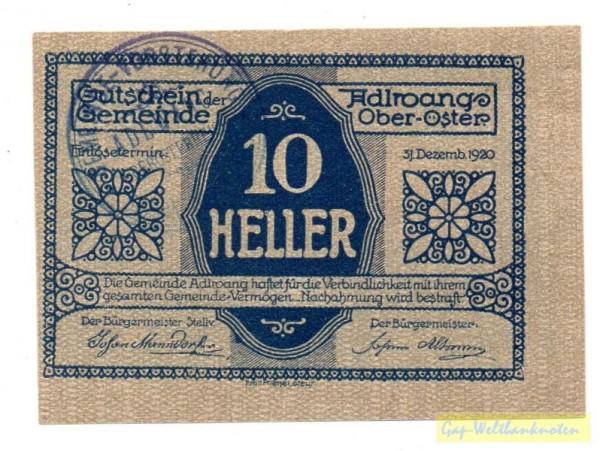 Vs. Udr 1 Rs Udr 2, GSt 29 mm - (Sie sehen ein Musterbild, nicht die angebotene Banknote)