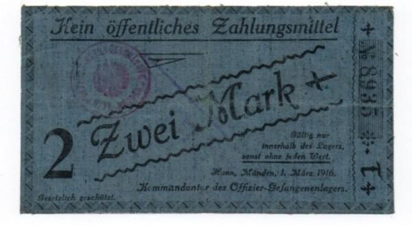 1.3.15, T, Leinen, entwertet - (Sie sehen ein Musterbild, nicht die angebotene Banknote)