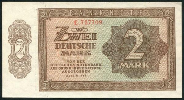 1948, X KN 6st. - (Sie sehen ein Musterbild, nicht die angebotene Banknote)