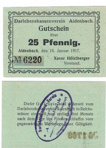 """15.1.17, Pap grün. 1. Zeile endet """"vom"""" - (Sie sehen ein Musterbild, nicht die angebotene Banknote)"""