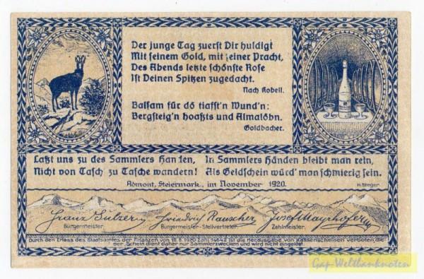 Dr. bds. blau, Bild braun - (Sie sehen ein Musterbild, nicht die angebotene Banknote)