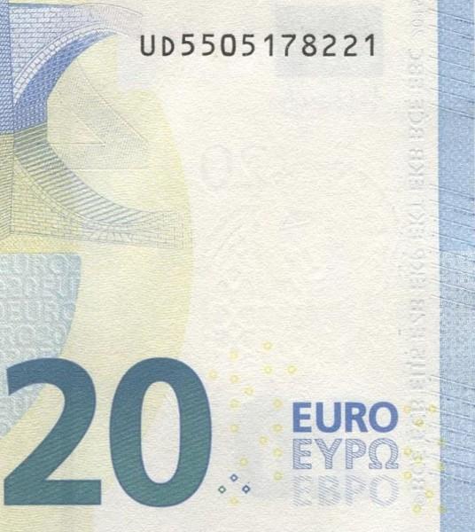 U020,021 - (Sie sehen ein Musterbild, nicht die angebotene Banknote)