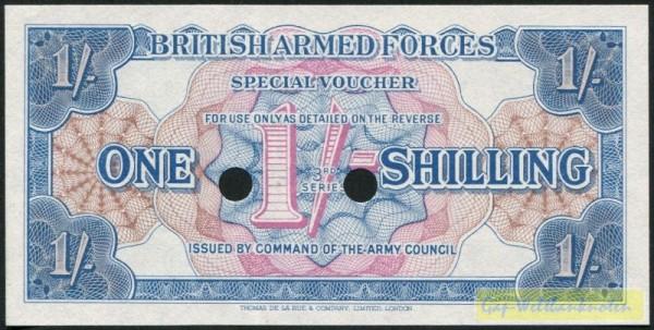 3. Serie, gelocht - (Sie sehen ein Musterbild, nicht die angebotene Banknote)