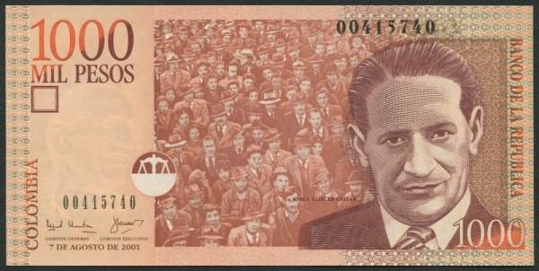 7.8.01 - (Sie sehen ein Musterbild, nicht die angebotene Banknote)