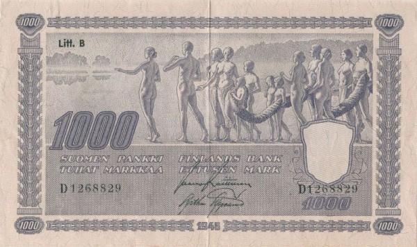 1945, Litt. B - (Sie sehen ein Musterbild, nicht die angebotene Banknote)