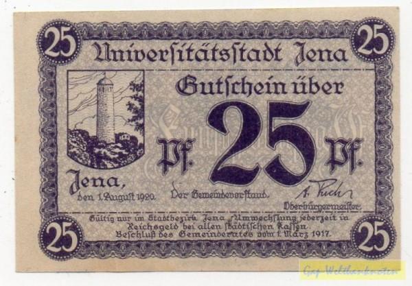 1.8.20, Papier grau, KN Type II - (Sie sehen ein Musterbild, nicht die angebotene Banknote)