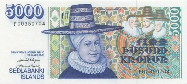 L1961, Us. OlafssonNordal - (Sie sehen ein Musterbild, nicht die angebotene Banknote)