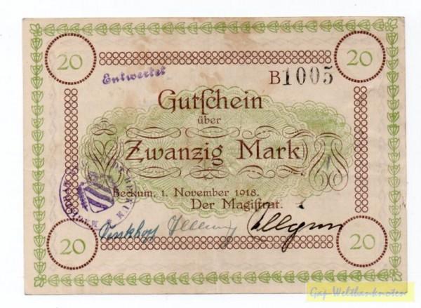 1.11.18, entwertet - (Sie sehen ein Musterbild, nicht die angebotene Banknote)