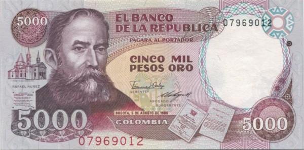 5.8.86, GA (Verfassung) - (Sie sehen ein Musterbild, nicht die angebotene Banknote)
