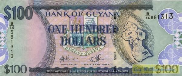 """Us. Williams/Singh, Wz. Papagei und """"100"""" - (Sie sehen ein Musterbild, nicht die angebotene Banknote)"""