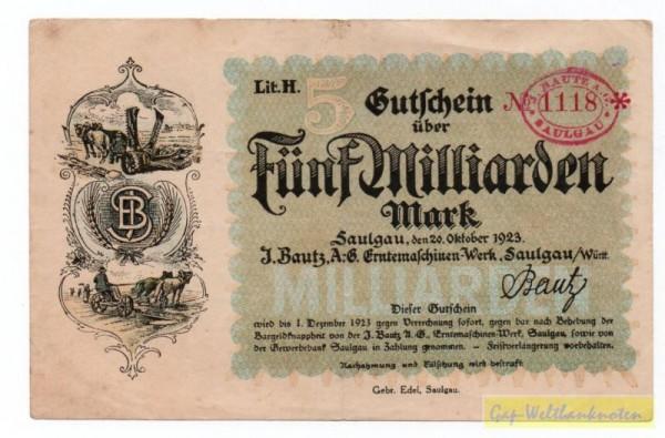 20.10.23 - (Sie sehen ein Musterbild, nicht die angebotene Banknote)