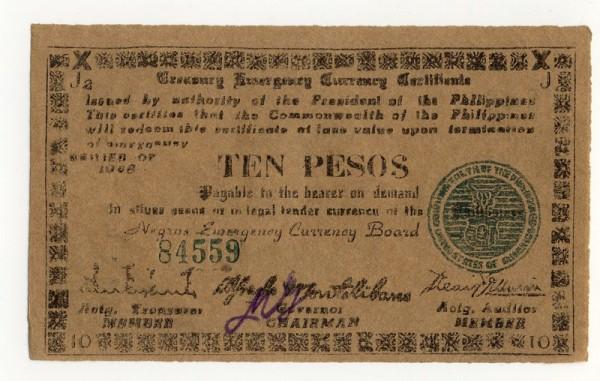 1945, J2, J4 - (Sie sehen ein Musterbild, nicht die angebotene Banknote)