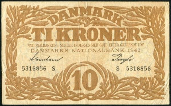 1942S - (Sie sehen ein Musterbild, nicht die angebotene Banknote)