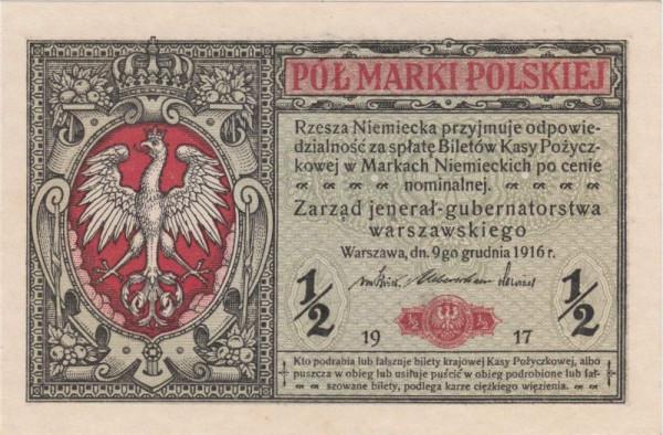 1917, A, KN hellrot - (Sie sehen ein Musterbild, nicht die angebotene Banknote)