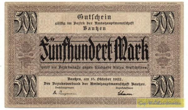 15.10.22 - (Sie sehen ein Musterbild, nicht die angebotene Banknote)