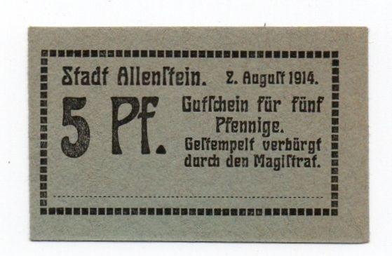 2.8.14, St. A - (Sie sehen ein Musterbild, nicht die angebotene Banknote)