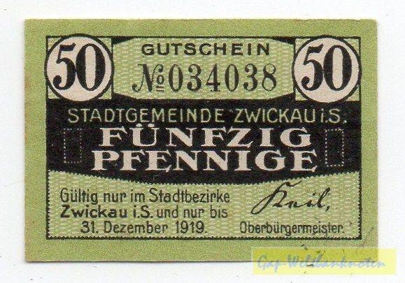 oD, grün, Rs. Wappen - (Sie sehen ein Musterbild, nicht die angebotene Banknote)