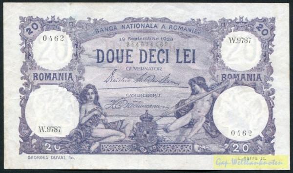 19.9.29 - (Sie sehen ein Musterbild, nicht die angebotene Banknote)