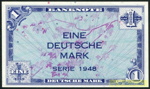 1948 - (Sie sehen ein Musterbild, nicht die angebotene Banknote)