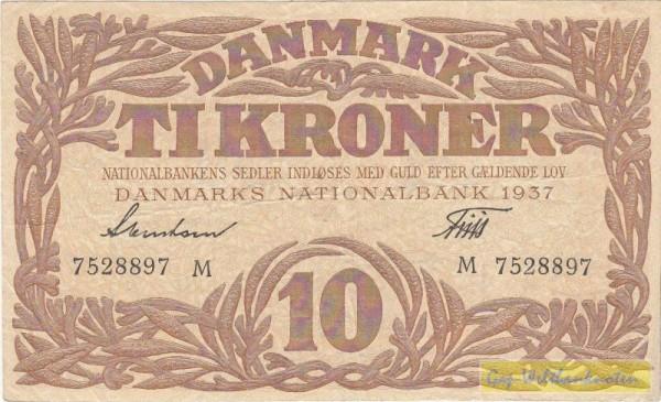 1937M - (Sie sehen ein Musterbild, nicht die angebotene Banknote)