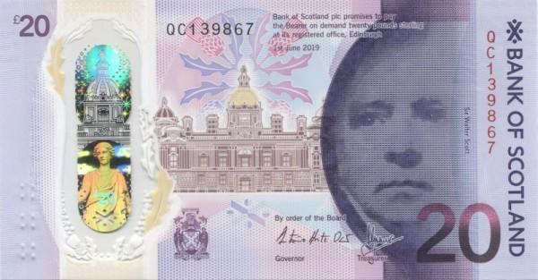 1.6.20, GA: Queensferry Crossing - (Sie sehen ein Musterbild, nicht die angebotene Banknote)