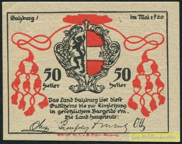 Mai 1920 - (Sie sehen ein Musterbild, nicht die angebotene Banknote)
