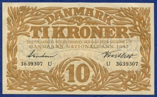 1943U - (Sie sehen ein Musterbild, nicht die angebotene Banknote)