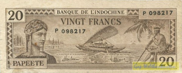 oD (1944) - (Sie sehen ein Musterbild, nicht die angebotene Banknote)