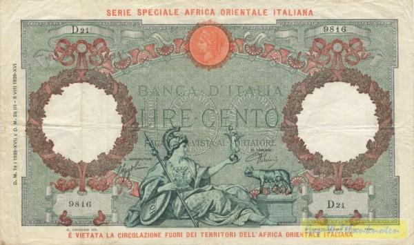 14.1.1939 - (Sie sehen ein Musterbild, nicht die angebotene Banknote)