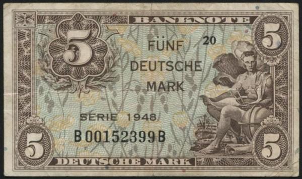 1948, B/B - (Sie sehen ein Musterbild, nicht die angebotene Banknote)