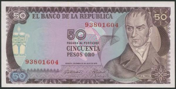 20.7.73 - (Sie sehen ein Musterbild, nicht die angebotene Banknote)