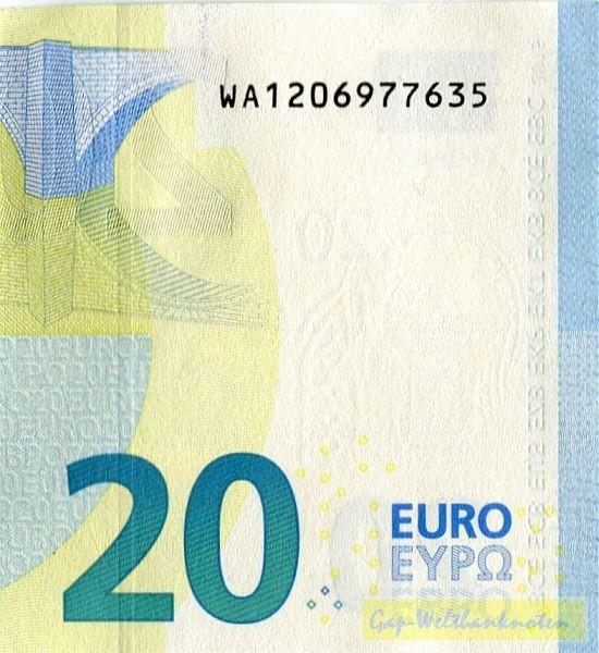 W001,002 - (Sie sehen ein Musterbild, nicht die angebotene Banknote)