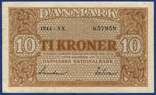 1944 BX - (Sie sehen ein Musterbild, nicht die angebotene Banknote)