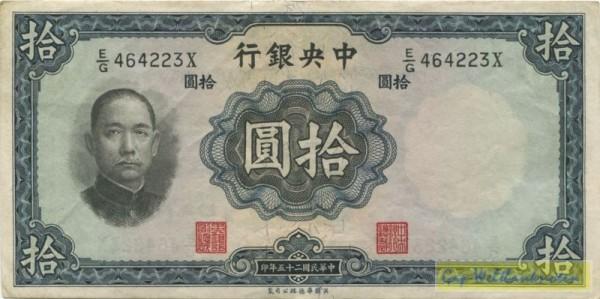 1936, Us.8, W&S - (Sie sehen ein Musterbild, nicht die angebotene Banknote)