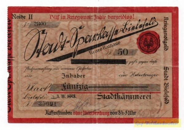 1.11.18, Reihe II  - (Sie sehen ein Musterbild, nicht die angebotene Banknote)