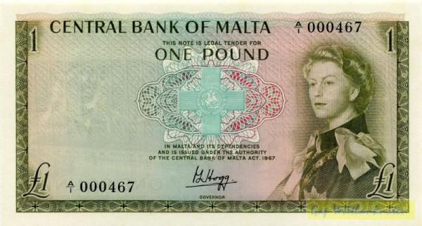 L1967 - (Sie sehen ein Musterbild, nicht die angebotene Banknote)
